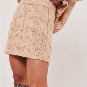 Missguided knit mini skirt